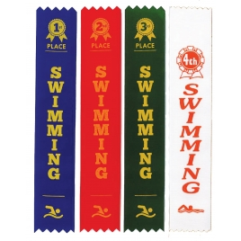 1st - 4th Swimming Sports Day Ribbons