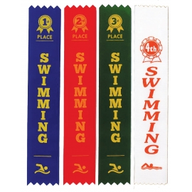 Swimming Sports Day Ribbons (1st - 4th Place)