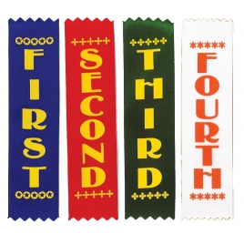 Sports Day Plain Ribbons (1st - 4th Place)