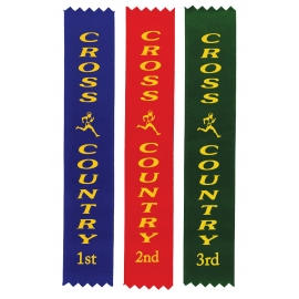 Cross Country Ribbons (1st - 3rd Place)