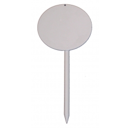 Athletics Field Event Marker Rounded metal sheet with small peg