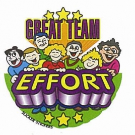 Great Team Effort Sticker