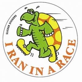 I Ran in a Race (Turtle) Sticker