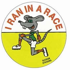 I Ran in a Race (Mouse) Sticker