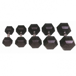 Rubber Hexagonal Dumbbells